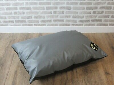 Small Water Resistant Grey Faux Leather S Dog Bed Pet Bed Dogbed Petbed