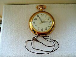 Vtg United Clock Corp.Model No.370 Pocket Watch Shaped Wall Clock  BEAUTIFUL