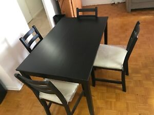 Dining table & chairs (Moving sale)