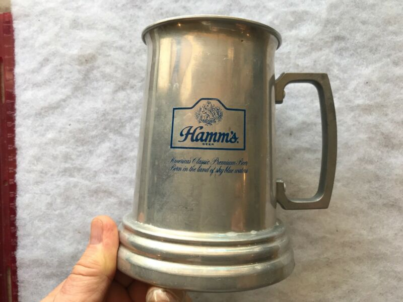 Hamm's Beer Vintage Advertising Metal Tankard