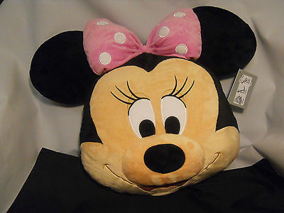 MINNIE MOUSE PILLOW PLUSH CUSHION DISNEY STORE NEW