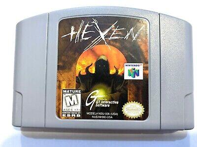 Hexen Nintendo 64 N64 Juego Probado + Laboral & Auténtico