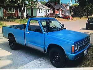 1987 Chevy s-10 project