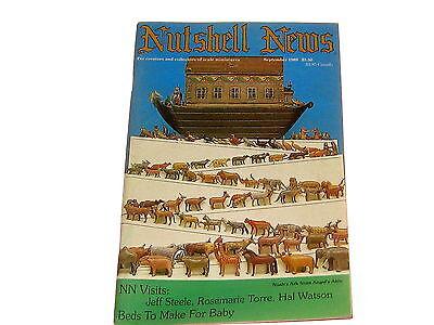 #2041 SEPTEMBER 1989  NUTSHELL NEWS MINATURES MAGAZINE FOR CREATORS & COLLECTORS