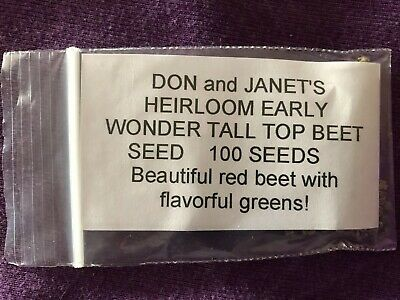 Early Wonder Tall Top - BEET SEED, Early Wonder Tall Top, Organically Grown, 100 Seeds