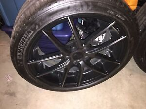 "Black 19x8.5"" niche rims for sale"