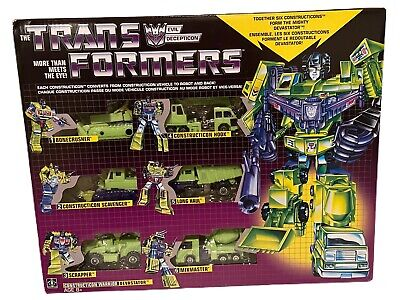 Transformers Walmart G1 Reissue DEVASTATOR Hasbro MISB 2018 Constructicons in US
