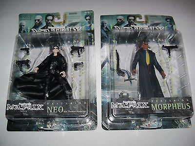 Retired rare nisp MATRIX TRILOGY Mr Anderson NEO The One + MORPHEUS Figure Lot](Neo Anderson)