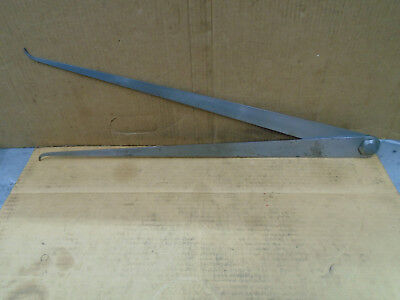 C520 Starrett 27 Inside Caliper 24 Flat Leg For Machinist Lathe Hydraulic Fab