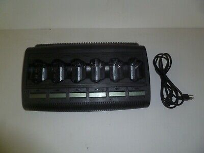 Motorola Impres Wpln4127ar Six Bank Xts3000 Xts5000 Twoway Radio Battery Charger