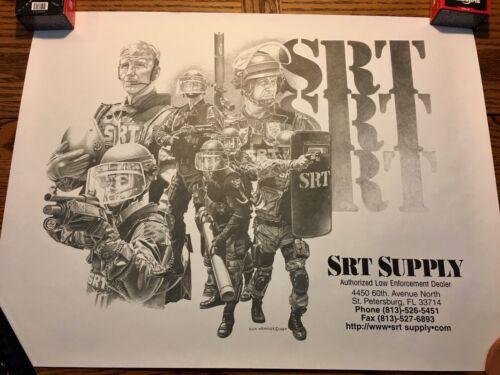 RARE SRT Supply Poster, artwork by Dick Kramer