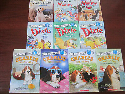 Lot 9 Level 1 & 2 I Can Read! Reader Books Charlie The Ranch Dog, Dixie, Marley