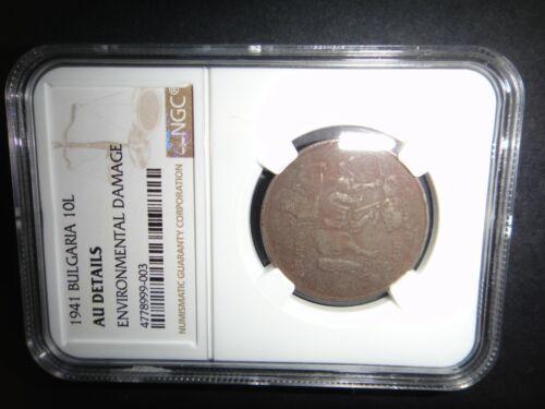 Bulgaria, Bulgarian 1941 10 Leva Coin, Certified NGC AU Details