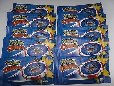 Pokemon / 40 Chipz / Topps / 10 Tüten / OVP /