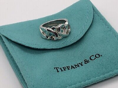 TIFFANY & CO Paloma Picasso Loving Heart Ring Sterling Silver 925 Size 4