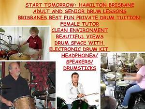 adult and senior beginner drum lessons Hamilton Brisbane North East Preview