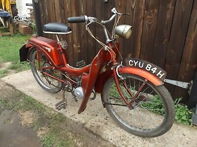 old vintage Raleigh Runabout Delux moped runs rare barn find