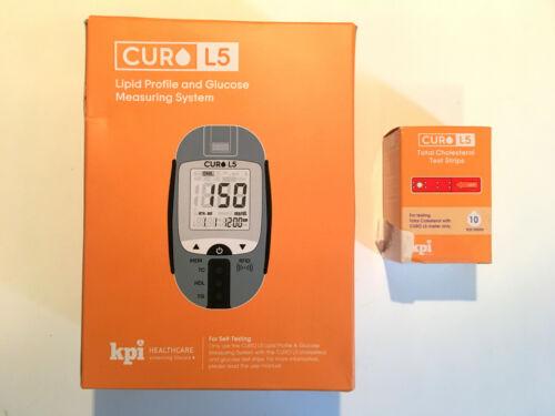 Curo L5 Lipid Profile Blood Total Cholesterol Test Kit