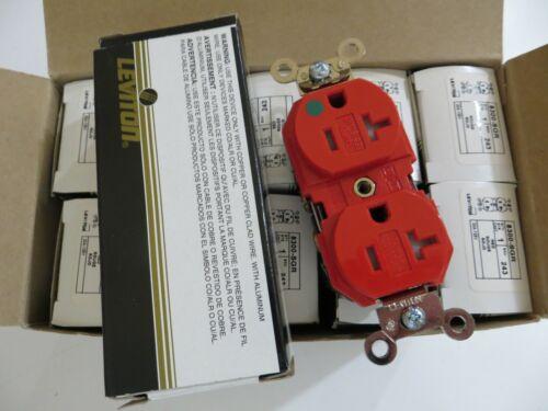 LEVITON 8300-SGR Receptacle, Tamper Resistant, 20A, 125V, Pack of 10
