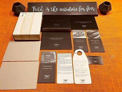2008 2009 2007 BENTLEY CONTINENTAL GTC OWNERS MANUAL +UNUSED SERVCE BK (NEW) NOS
