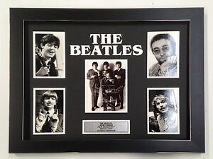 THE BEATLES PROFESSIONALLY FRAMED, SIGNED PHOTO COLLAGE WITH PLAQUE