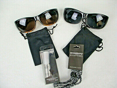 Haven Fits Over Sunwear NWOT 2 sets Sunglasses and Accessories Tortoise Black (Haven Fits Over Sunglasses)