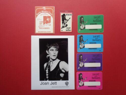 JOAN JETT,promo photo,6 Backstage passes,RARE Originals,1980
