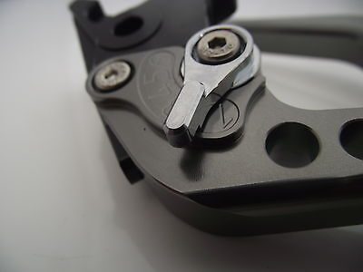 Ducati ST4/S/ABS (99-02), CNC levers long titanium/chrome adjusters, DB12/DC12