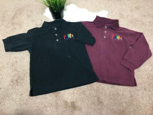 Sunshine Boy Uniforn Polo Shirt Sz Youth XS Faith Christian Preschool Red Black