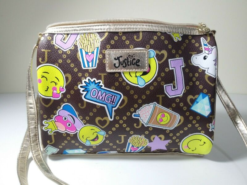 Girls Justice Purse Handbag Emoji Euc