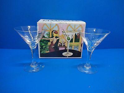 VINTAGE DARTINGTON HOLLYWOOD COCKTAILS FOR TWO GLASSES - FRANK THROWER