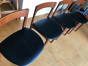 Vintage retro Nathan dining chairs — Scandi Nordic style X4 Alexandria Inner Sydney Preview