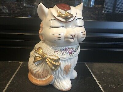 Vtg Shawnee Cookie Jar Puss 'N' Boots Cat Kitchen Canister