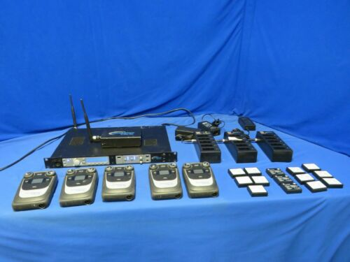 Clearcom Tempest 900 Wireless Intercom System w/5 Beltpacks, 3 chargers, extras