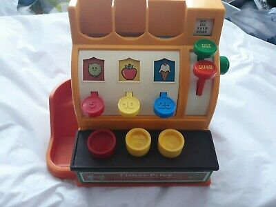 Vintage Fisher Price Cash Register #926 three Coins Complete Working Bell 1974