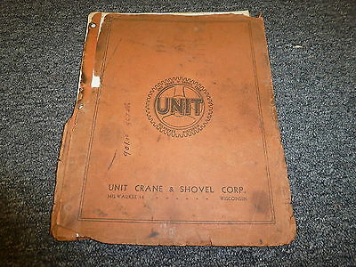 Unit Crane Shovel 1020a Dragline Crane Owner Operator Maintenance Manual Book