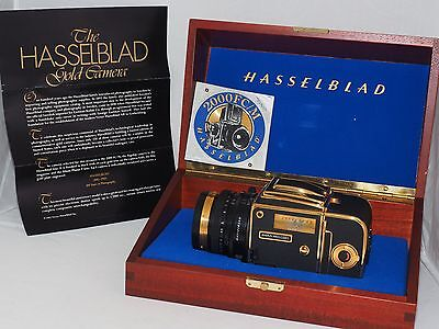 Hasselblad Gold 2000 FC/M 100th Anniversary Zeiss 80mm T* lens. Presentation Box