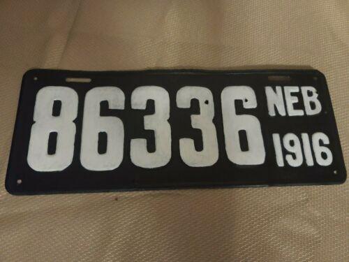 1916 Nebraska Steel License Plate