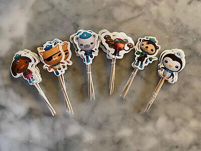 Octonauts Cupcake Toppers Kids Birthday Party Supplies Sea Ocean Animals 24pcs