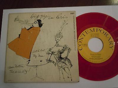 DIZZY GILLESPIE  in Paris  CONTEMPORARY EP ´45 red wax USA 1955