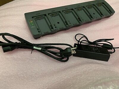 Psion Teklogix 6 Bay Battery Charger St3006 W Ac Power Supply Omnii Xt15 Xt10