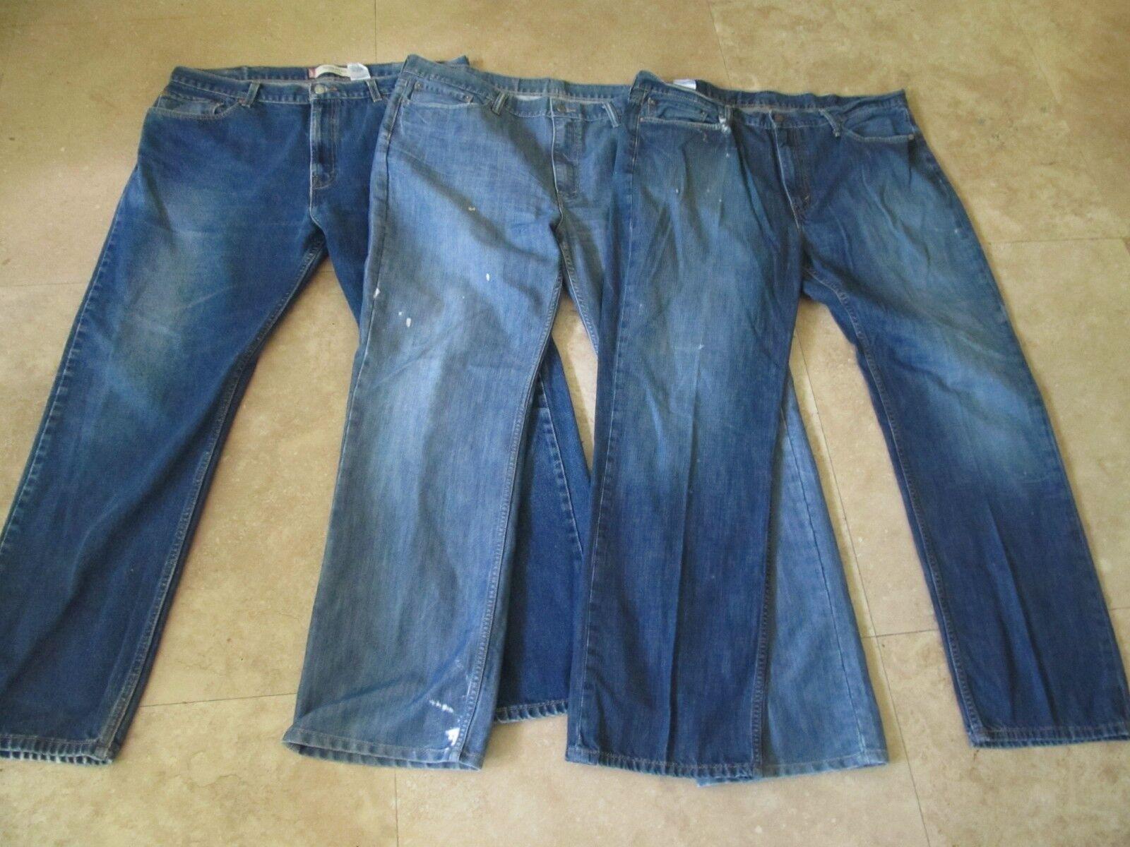 Lot, 3 Mens Size 40x32 Levis Blue Jeans, 514, 505 - $19.49