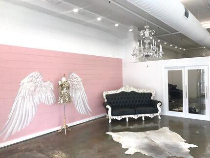 Rent A Chair or the whole salon. Salon within Designer Dress Boutique