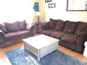 Matching couch and love seat  for sale.
