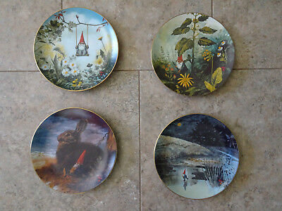 Gnome Collector Plate Set  - The Four Seasons 1980 by Rien Poortvliet