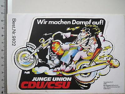 Aufkleber Sticker Junge Union CDU CSU Politik Partei (3945)