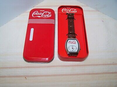 Coca Cola Watch in Tin Box New