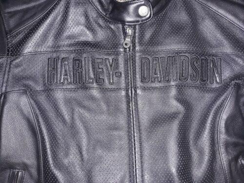 HARLEY DAVIDSON WMNS SZ 2XL AERATION BLACK LEATHER JACKET