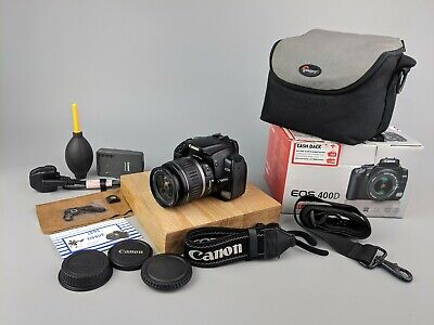 Canon 400d DSLR Camera + 18-55mm Lens - BOXED + Bag  + Accessories!