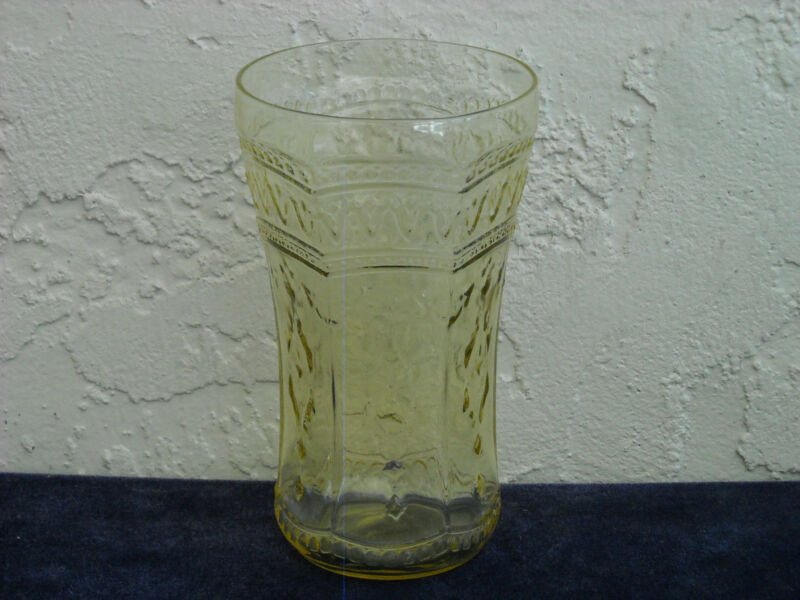 Patrician Iced Tea Tumbler with Manufacturing Flaws  Amber